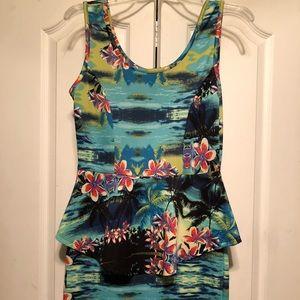 Peplum Island Dress